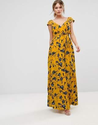 Traffic People Floral Chiffon Maxi Dress