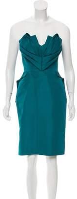 Zac Posen Silk Strapless Dress