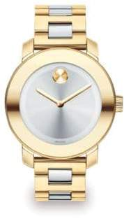 Movado Bold Two-Tone IP Stainless Steel Bracelet Watch/36MM