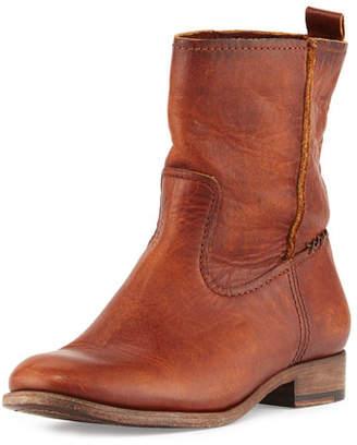 Frye Cara Short Leather Boot, Cognac $328 thestylecure.com