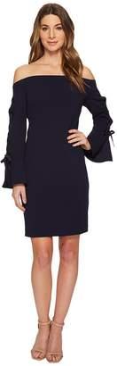 Vince Camuto Lace-Up Sleeve Off Shoulder Crepe Ponte Dress Women's Dress