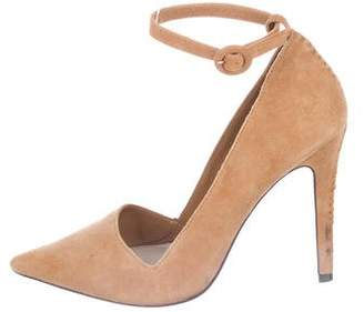 Alice + Olivia Suede Mary-Jane Pumps