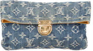 Louis Vuitton Louis Vuitton Denim Pochette Plate Clutch