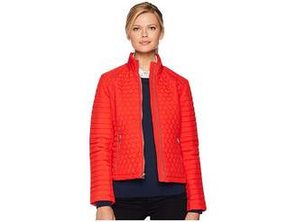 Andrew Marc Linden Honeycomb Mini Quilted Scuba Jacket