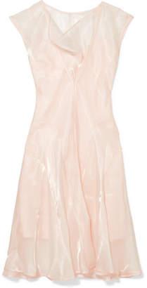 ADEAM - Organza Midi Dress - Baby pink
