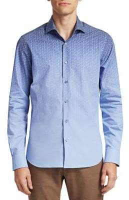 Saks Fifth Avenue COLLECTION Medallion Ombre Cotton Shirt