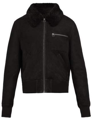 Yves Salomon Shearling Bomber Jacket - Mens - Black