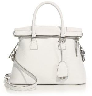 Maison Margiela Small Top-Handle Leather Tote $2,695 thestylecure.com