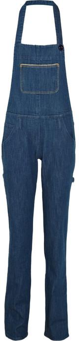 Sonia by Sonia Rykiel Rigid-denim halterneck overall pants