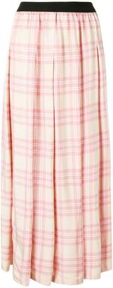 Sara Lanzi checked long skirt
