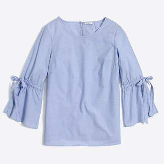 J.Crew Factory Bow-sleeve top