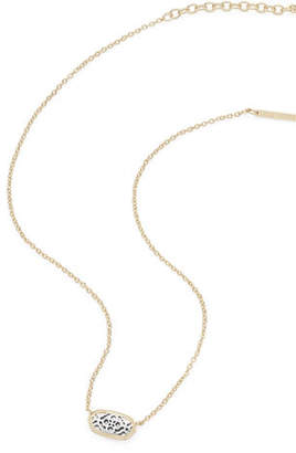 Kendra Scott Elisa Statement Necklace in Yellow Gold Plate $55 thestylecure.com