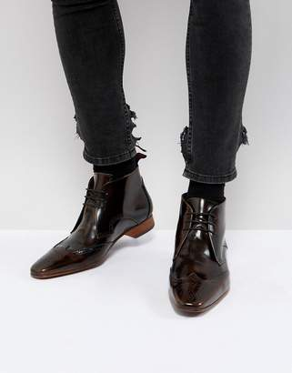 Jeffery West Escobar brogue boots in brown