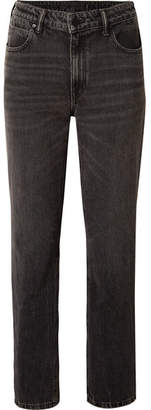 Alexander Wang Cult Cropped High-rise Straight-leg Jeans