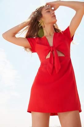 Kimchi Blue Bow-Front Cutout A-Line Mini Dress $69 thestylecure.com