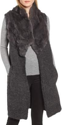 Linda Richards Genuine Rabbit Fur & Knit Vest