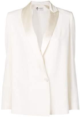 Lanvin satin-trimmed crepe jacket