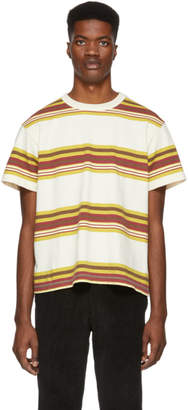 Noon Goons Off-White Surfer Stripe T-Shirt