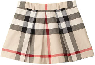 Burberry Girls' Checked A-Line Skirt