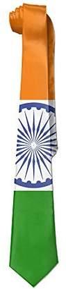Dargon One Men's India Flag Necktie Ties