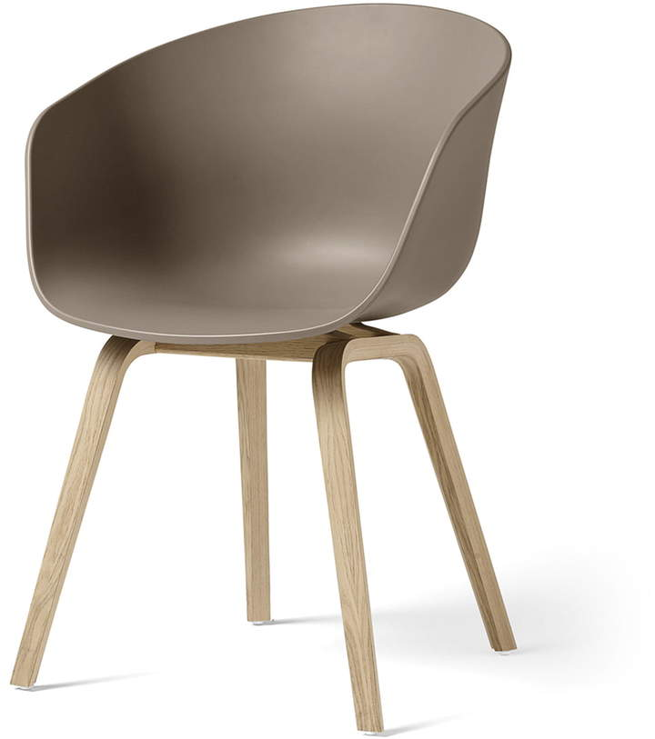 Hay - About A Chair AAC 22, Holz-Vierbeingestell (Eiche matt lackiert) / Khaki