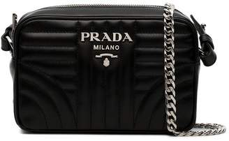 Prada Black Diagramme Leather cross body bag