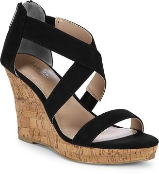 Charles by Charles David Women's Crisscross Leather Wedge Sandals