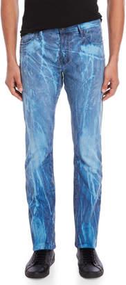 PRPS Blue Tie-Dye Slim Pants