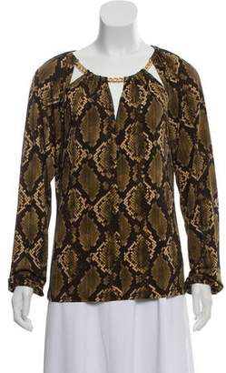 MICHAEL Michael Kors Long Sleeve Blouse