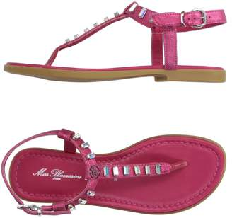 Miss Blumarine Toe strap sandals