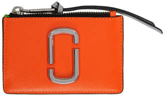 Marc Jacobs Orange Snapshot Top Zip Multi Card Holder