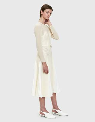 Self-Portrait Self Portrait Ivory Embroidered Midi Dress