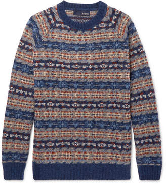 Lardini Fair Isle Wool-Blend Sweater
