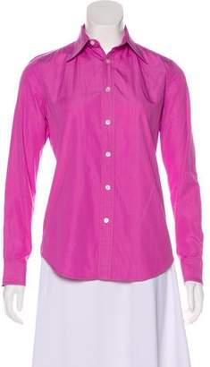 Ralph Lauren Collared Button-Up Top