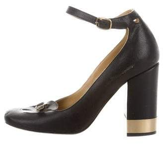 Chloé Leather Mary Jane Pumps