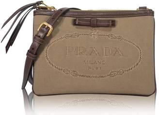 Prada Jacquard Crossbody Bag Logo Brown/Beige