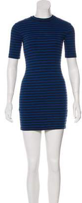 Alexander Wang Striped Short Sleeve Dress