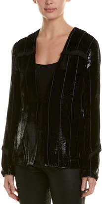 Yigal Azrouel Liquid Velvet Silk-Blend Blazer