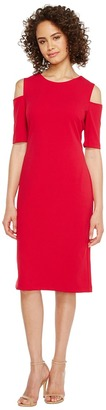 Christin Michaels - Lexington Cold Shoulder Dress Women's Dress $74 thestylecure.com