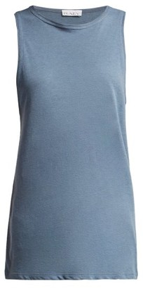 Raey Muscle Back Cotton Vest - Womens - Blue