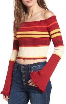 Somedays Lovin Even Closer Off the Shoulder Crop Sweater