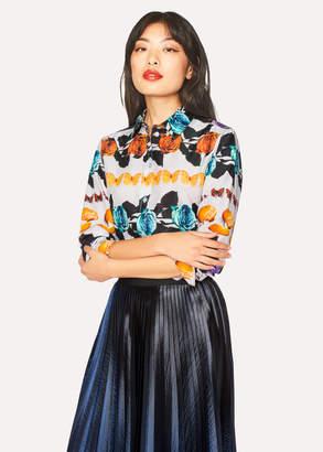 Paul Smith Women's 'Still Life Stripe' Print Cotton Shirt