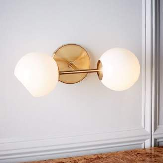 west elm Staggered Glass Sconce - Double