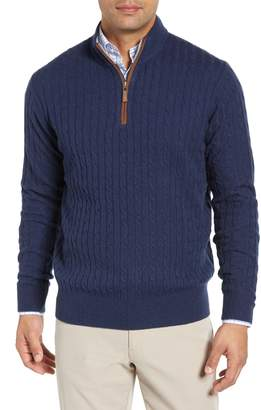 Peter Millar Crown Quarter Zip Wool Blend Sweater