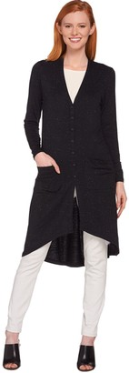 Lisa Rinna Collection Hi-Low Knit Duster Cardigan