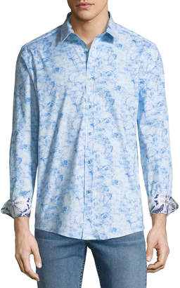 1 Like No Other Classic Fit Thin-Line Floral Sport Shirt