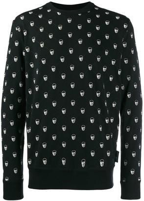 Philipp Plein skull pattern pullover jumper
