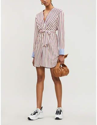 Sandro Paige striped woven dress