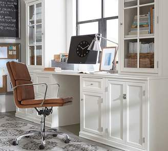 Pottery Barn Logan Small Office Suite with Cabinet Doors & Glass Towers