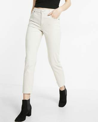 Express High Waisted Five Pocket Stretch Straight Cropped Pant